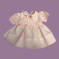 Pretty Pink Doll Dress for Chubby Dolls 1950s
