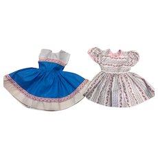 "Two Factory Fifties Doll Dresses for Hard Plastics 18-19"" Dolls"