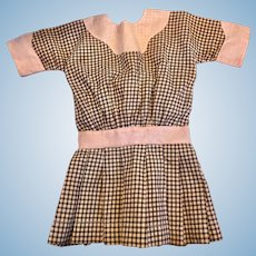 Cotton Day Dress for Large Bisque Dolls