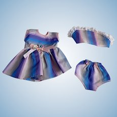 Three Piece Taffeta Outfit for Tiny Tears and Friends 1950s