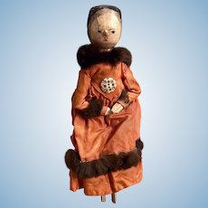 Antique Grodnertal Primitive Doll Late Nineteenth Century