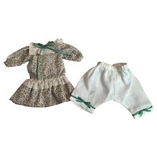 Dropped Waist Dress and Bloomers for Small Bisque Dolls