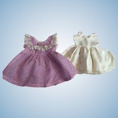 Purple and White Dress and Slip for Composition Dolls