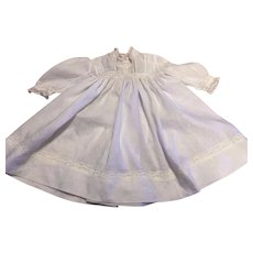 Vintage Batiste and Lace Doll Gown