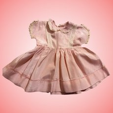 Pink Taffeta Doll Dress for Big Babies and Toddlers
