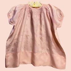 Pink Silk Vintage Baby Dress