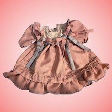 Pretty Linen Dress for Bisque Dolls