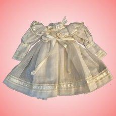Corn silk Beige Linen Dress for Bisque Dolls