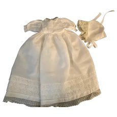 Gown and Bonnet for Small Bisque Babies Dream Baby