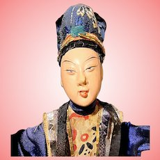 Antique Chinese Opera Doll in Display Box 1900