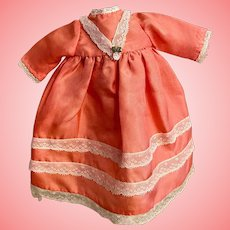 Lovely Silk Dress for Small Bisque Dolls