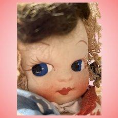Original Hand Painted Cloth Doll