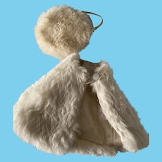 Two Piece Rabbit Fur Cape and Tam 1950