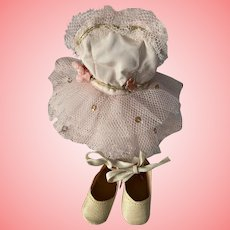 Ballerina Ensemble and Shoes for Hard Plastic Dolls 1950s