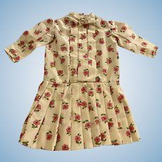 Floral Dropped Waist Dress for Bisque Dolls