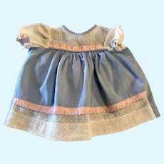 Cotton and Dotted Swiss Baby Doll Dress 1950s