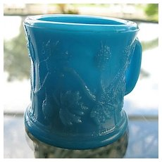Toy Cup Opaque Blue #2 EAPG Gooseberry Variant 1887