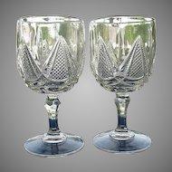 Pair Coral Gables 8 oz. Goblets 1890s