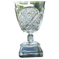 Ashman 6.5 in. Goblet #1 1880 Adams & Co. No. 120