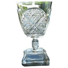 Ashman 6.5 in. Goblet #2 1880 Adams & Co. No. 120