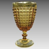 Thousand Eye 6 in. Amber Goblet 1870s Pattern