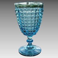 Thousand Eye 6 in. Blue Goblet 1870s Pattern