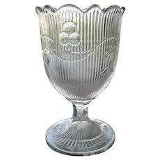 Bellflower Flint Glass Spoon Holder McKee 1860s