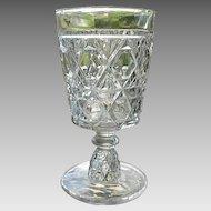 Water Goblet #2 Blockade Pattern Challinor Taylor 1885
