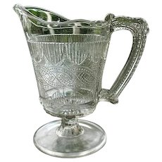 Chain and Shield Creamer 1870 Portland Glass