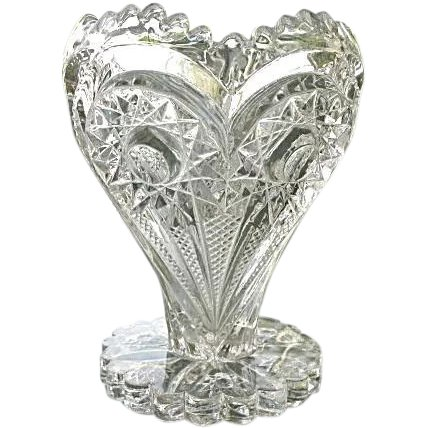 Imperial Glass Zippered Heart Vase 5 In Eapg Past Wares Ruby Lane