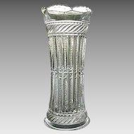 Tarentum Flower Vase 6.5 Strigil Pattern 1892