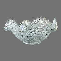Imperial Glass 9.5 in. Deep Ruffled Fruit Bowl 1909
