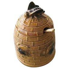 Beehive Honey Jar with Spoon Made in Japan