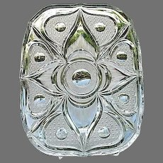 Large 12 in. Platter Tray ABP Cut Glass Unusual Pattern