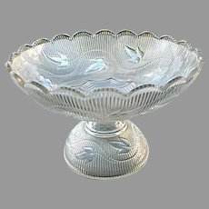 Ribbed Ivy Flint Compote and 8 pc Sauce Set Boston Sandwich