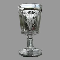 Ribbed Shell Water Goblet Central Glass 1883