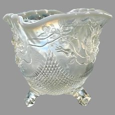 Fine Cut and Roses Opalescent Candy Bowl  1907
