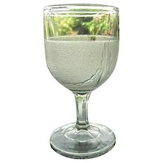 Stippled Chain Goblet Gillinder & Sons 1870s