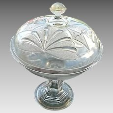 Covered Compote 11 in. McKee Brothers 1880