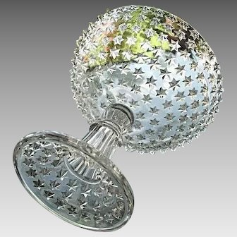 Compote Effulgent Star Central Glass 1888