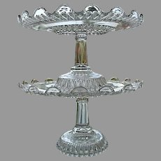 Double Stack Fulton aka Martha's Tears Cake Stands 1885