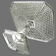 Hobnail in Diamonds Cake Stand 1885