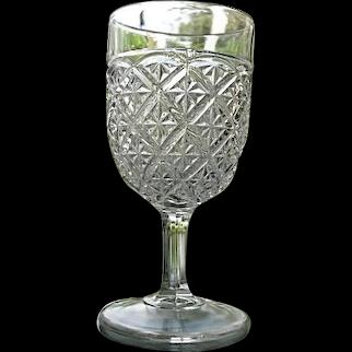 Barred Star aka Spartan Water Goblet #2