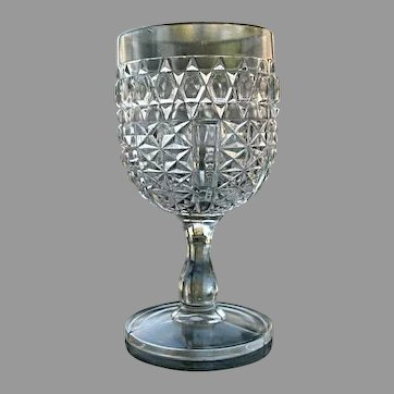 Barred Daisy Water Goblet Mid-1880s