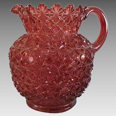 Daisy Button Cranberry Water Pitcher Bryce