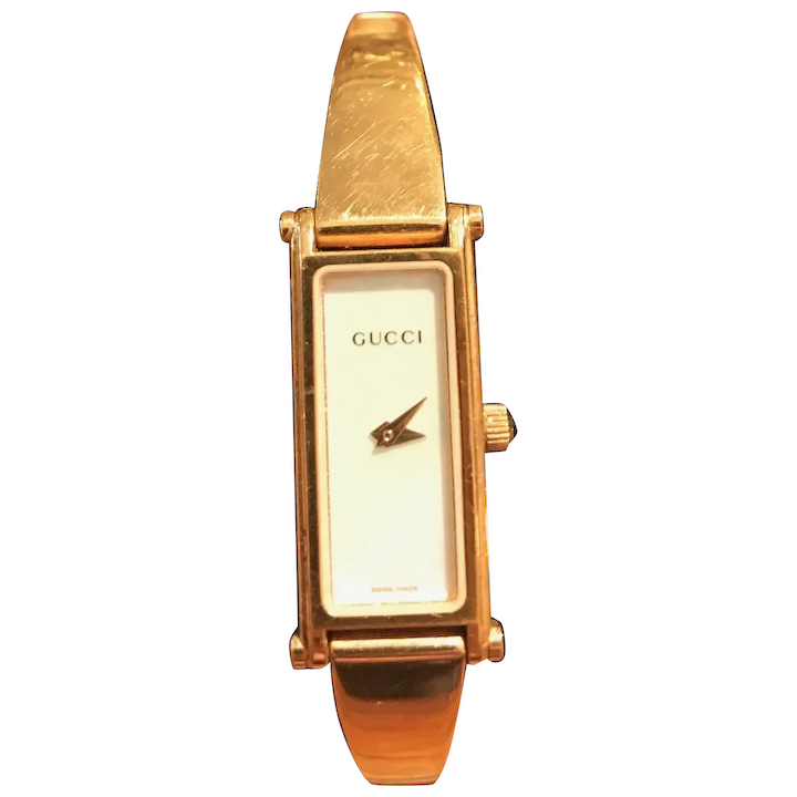 Vintage Gucci Women\u2019s Watch Gold Dial Gold Tone 6