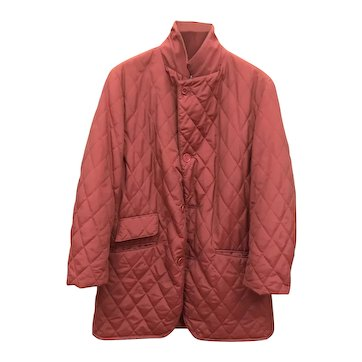 Vintage Hermes Red Riding Down Jacket Medium