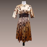 Custom Made Vintage Silk Charmeuse Day/Evening Dress
