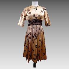 Custom Made Vintage Silk Charmeuse Day/Evening Dress