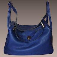 """HERMES Lindy Bag 34 cm """"Blue Jean"""""""